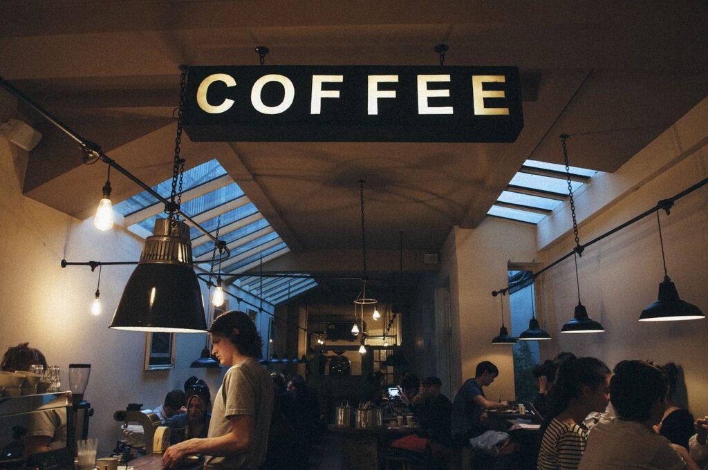 coffee, shop, cafe